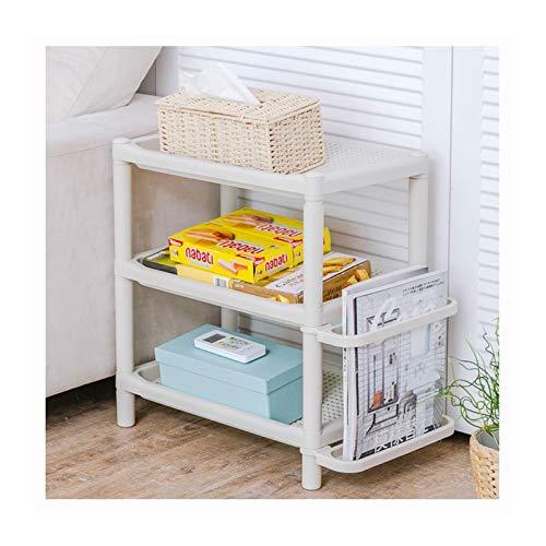 LYLY Zapatero 3/4-TIER Shoe Rack Resin Multi-Use Shelf Shelf Almacenamiento Organizador para Baño de Pasillo de Entrada, Sala de Estar Estante de Zapatos (tamaño : 50cm(3-Tiers))