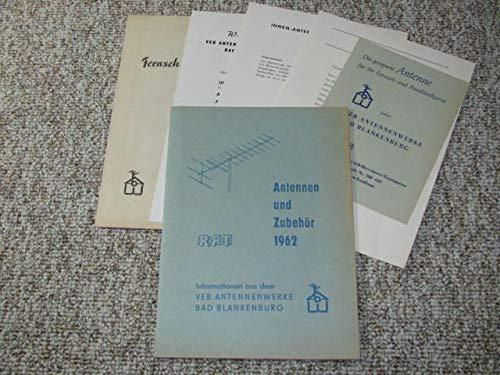 Konvolut RFT Antennen und Zubehör 1962.