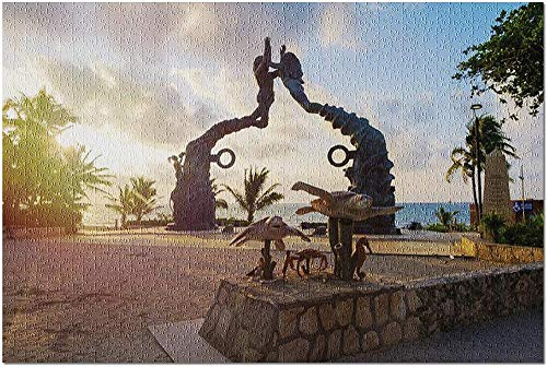ACCYT HD Playa del Carmen Mexiko - Parque Fundadores im Morgengrauen 9036317 (19x27 Premium 1000-teiliges Puzzle Made in USA!)