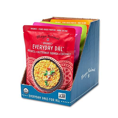 Maya Kaimal Foods Organic Indian Everyday Dal, Fully Cooked, Variety Pack...