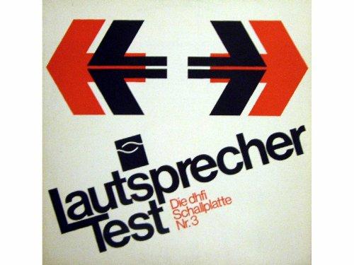 Die dhfi Schallplatte Nr. 3 Lautsprecher Test mit original Protokoll-Formular Klappcover