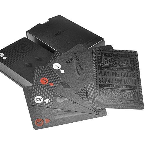 スロウワー カジノトランプ 高級感満載のハイスペックトランプ (ブラック)