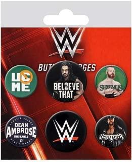 WWE Button Badge Set