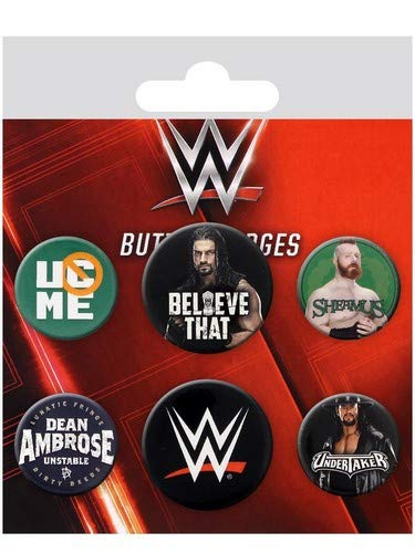 GB Eye WWE-Logos Badge Pack, Mehrfarbig