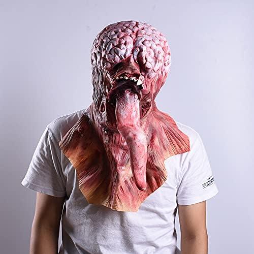Houston Mall Horror Big unisex Tongue Headgear Masque cosplay natural Helmet Mask La