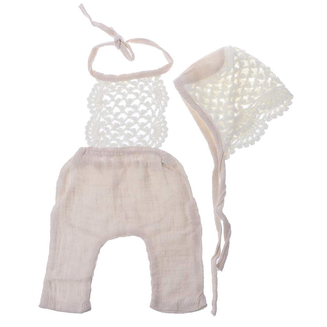 ステッチ有限ベスビオ山写真の衣装、新生児写真の小道具赤ちゃん男の子女の子夏服赤ちゃんかぎ針編み帽子ベビーロンパース幼児写真アクセサリー