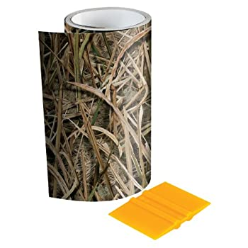 Mossy Oak - 14003-7-SGB Graphics 6  x 7  Shadow Grass Blades Camouflage Tape Roll - Camo Vinyl with a Matte Finish - Ideal for Covering Guns Bows Cameras and Other Hunting Accessories Squeegee Included.