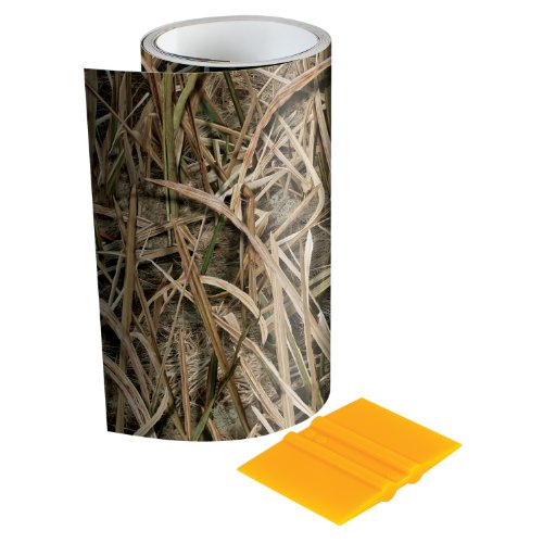 Mossy Oak - 14003-7-SGB Graphics 6' x 7' Shadow Grass Blades Camouflage Tape Roll - Camo Vinyl with a Matte Finish - Ideal for Covering Guns, Bows, Cameras, and Other Hunting Accessories. Squeegee Included.