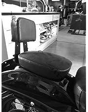 Sissy Bar - Respaldo acolchado de pasajero con desenganche rápido para Harley Davidson Sportster XL Forty Eight 1200X, color negro