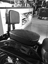 Marefot Si/ège de moto en cuir synth/étique pour Harley Sportster Forty XL1200 883 72 48 Noir
