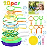 Fansport Big Bubble Wands Set Bubble Party Pack Bulk, Funny Bubble Toy Bubble Making Toys for Outdoor, Big Bubble Wands Bulk for All Age People Bubbles Party Favors Supplies