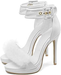 Amazon esSandalias Eur Zapatos Tacon 100 Blancas De 50 5L4qAScRj3