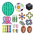 Juguetes sensoriales antiestrés para autismo TDAH, paquete de 24 juguetes de alivio del estrés, juguetes para violín para niños y adultos, bolas para aliviar el estrés, compresa de soja (A) de jingjing