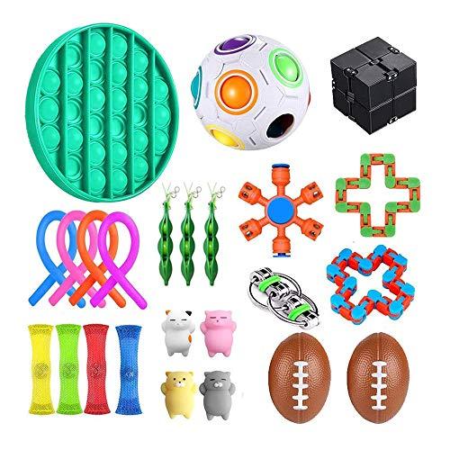Juguetes sensoriales antiestrés para autismo TDAH, paquete de 24 juguetes de alivio...