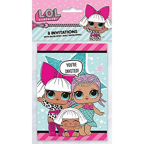 LOL Surprise Party Supplies 16 Invitations