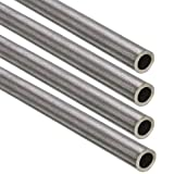 Dumadf 304 Tubos de Acero Inoxidable capilar, 4PCS 500mm Seamless Pipe Hollow Ronda para el Bricolaje Metales artesanía, Diámetro Exterior 3.2mm,Tube Wall Thickness 0.3mm
