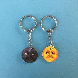 moon emoji keychain