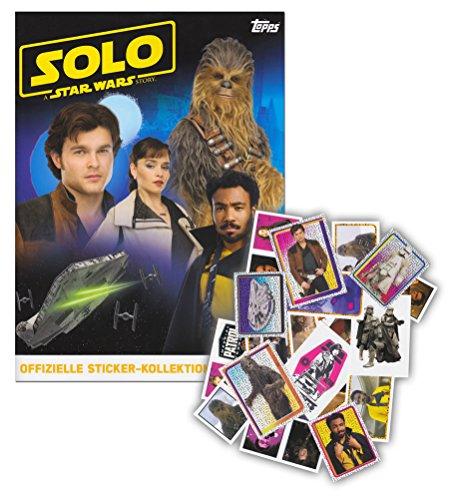 SOLO: A Star Wars Story Topps Starter-Set aus Sammelalbum + 50 verschiedenen Sammelstickern - keine Doppelten