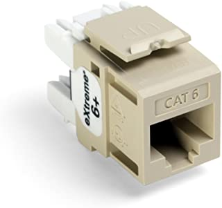 Leviton 61110-BI6 Extreme 6+ QuickPort Connector, CAT 6, Ivory, 25-Pack