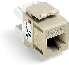 Leviton 61110-BI6 Extreme Quick Port Connector, Ivory, 25-Pack