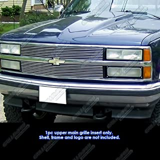 APS Compatible with 88-93 Chevy C K Pickup Suburban Blazer Main Upper Billet Grille N19-A10058C