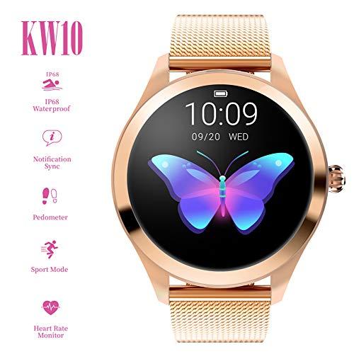 Smart Watch New Kw10, para Mujeres Reloj Deportivo al Aire Libre Inteligente, Sleep Impermeable y presión Arterial Monitor de oxígeno/calorías Contador de Pasos - para Android e iOS