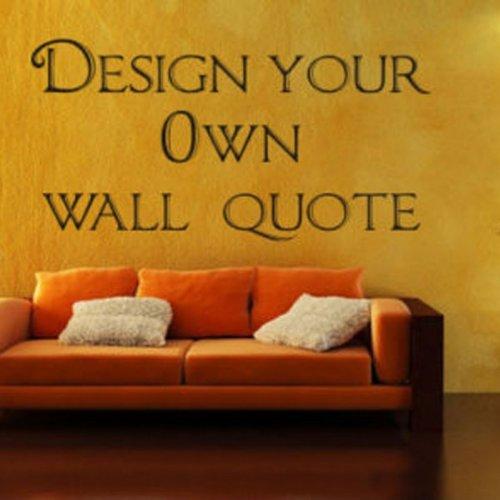 Windsor Designers Design Your Own Wall Art Cotte- Sticker décoratif 3 Tailles, devis, Transfert, Chambre à Coucher, Vinyle, Jaune, Medium -Size 90cm x 45cm