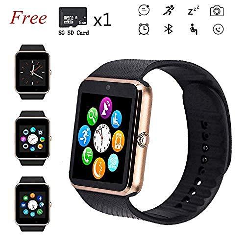 HSXQQL Smart Watches, Touch Screen Sport Polshorloge Telefoon voor Android IOS Stappenteller Smartwatch met SIM-kaartsleuf Camera Compatibele Samsung Mannen Vrouwen