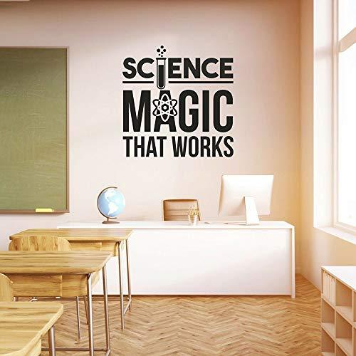 ganlanshu École Magic Science Vinyle Autocollant Mural Salle de Classe décoration Maternelle Mur Autocollant Chambre décoration 45 cm x 45 cm
