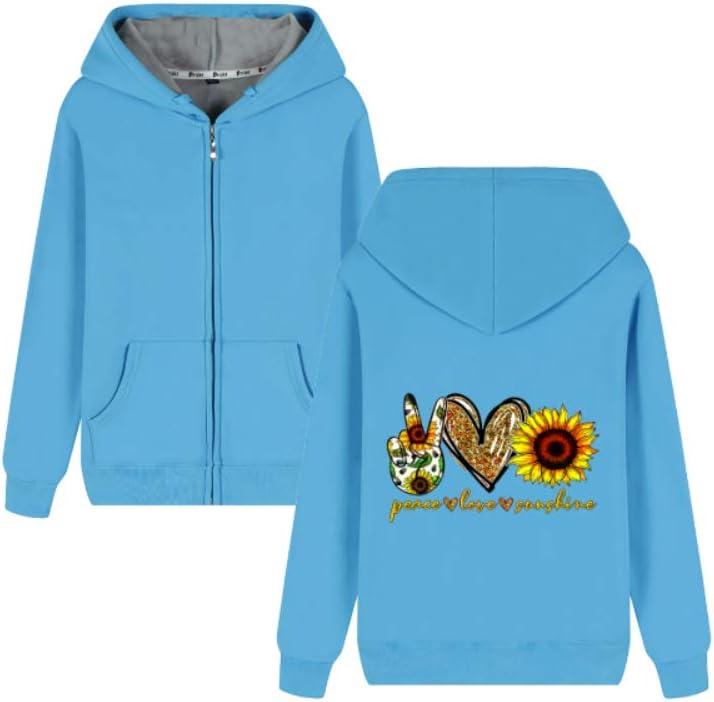 Kjlkljhgfjh Outerwear Peace Love and Sunshine Letter Printing Pullover Comfortable Men (Color : A01, Size : Medium)