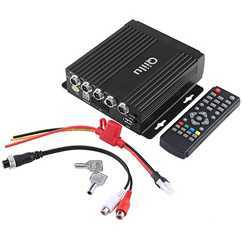 4CH DVR portatile, Mini DVR in tempo reale per auto DVR SD 4CH Ingresso video/audio con telecomando