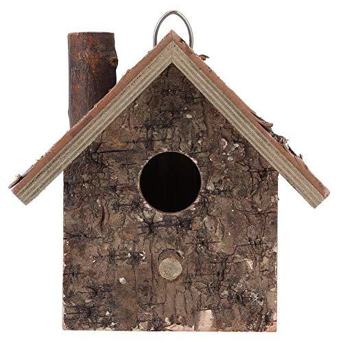 BYARSS La humedad tipo colgante Prueba de madera Casa del pájaro lugar de descanso Pet Supplies Accesorios