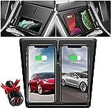 Chargeur de Voiture sans Fil pour Tesla Model 3 Dual Qi Pad de Charge sans Fil avec 3 Bobines Charge...
