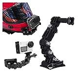 Brazo Adhesivo Curvado de Montaje de Casco de Motocicleta para Xiaomi Yi 4K Gopro Hero 8 7 6 5 4 SJCAM SJ4000 EKEN H9 Accesorios de la cámara de acción
