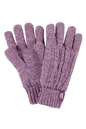 HEAT HOLDERS Damen 1 Paar Heatweavergarn Handschuhe mit Wärmerückhaltungswert 2,3 - Rose S/M