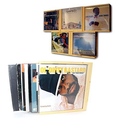 FloMi Schallplatten Aufbewahrung 12+ LPs • Vinyl Schuber Box • Holz • Schallplatten Box Bilder Rahmen • Made in Germany