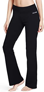 "BALEAF Women's 30"" / 32"" / 34"" Yoga Bootleg Pants Non See-Through Flared Bootcut Leggings Inner Pocket"