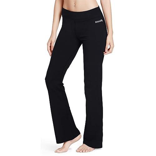 632fd31b8b622b Baleaf Women's Yoga Bootleg Pants Inner Pocket