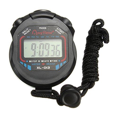OUTERDO Digitale Sport Stopwatch Handheld LCD Chronograaf Timer Counter Stop Horloge Alarm