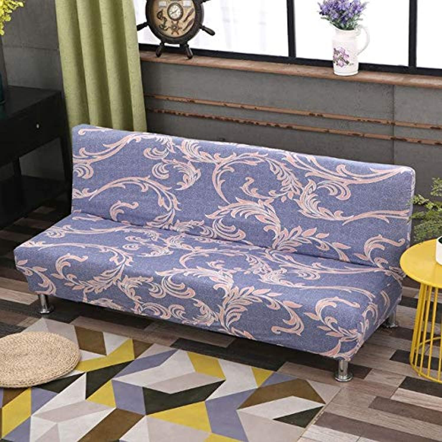 Farmerly Folding Sofa Bed Cover Tight All-Inclusive Slip-Resistant Sofa Cover Elastic Stretch Slipcover Sofa Length Between 165 and 185cm   color 17, D 165 to 185cm
