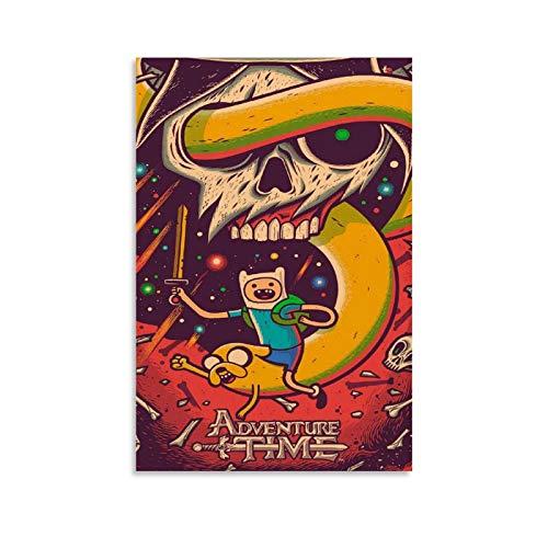 HZHI Camiseta de la hora de la aventura. Póster personalizado de alta gama, póster y arte de la pared. Impresión moderna de la decoración del dormitorio familiar de 30 x 45 cm