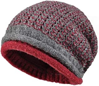 WYMAI Winter Ladies Wool Hat, Casual Versatile Pile Cap Blue, Gray, Red Simple and Practical Product (Color : Red)