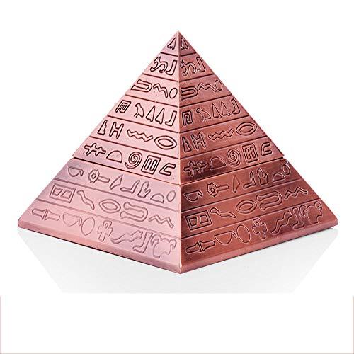 LCTYHG Retro Pyramide Zigarre Aschenbecher mit Deckel , Aschenbecher Ägyptischer Aschenbecher Zigarette Aschenbecher mit Deckel für den Innenbereich im Freien, Asche-Halter für Raucher Geschenk für Mä
