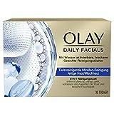 OLAY Daily Facials Reinigungstücher für fettige Haut/Mischhaut, Mit Wasser Aktivierbare, Trockene...