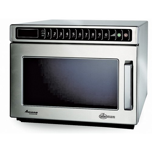 Amana HDC12A Compact Commercial Microwave - Heavy Duty 1200 Watts, 120V