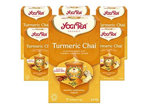 Yogi Tea Turmeric Chai, Pack of 6