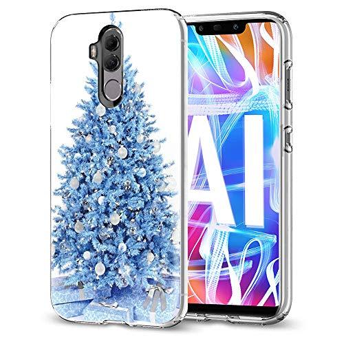 Pnakqil Funda Huawei Mate 20 Lite Transparente con Navidad Dibujos Ultraslim Antigolpes Flexible Soft Silicona...