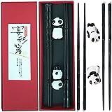 Estilo Chino Palillos Set(2 Pares) Panda Hecho a Mano Japonés Palillos Vajilla...