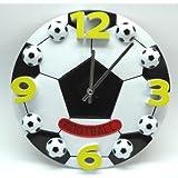 サッカーボール型 壁掛け時計 Sサイズ 直径17cm 卒業記念 贈り物 部活