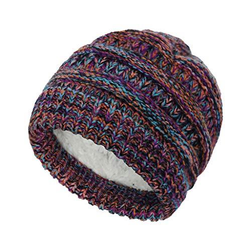 Simple Fleece Lined Baby Beanie Winter Hat, Infant Newborn Toddler Kids Warm Knit Cap for Boys Girls